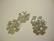 Strassilinkki Neliapila hopean värinen 15 mm