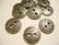 TierraCast Metallinappi pyöreä lehtikuvio pronssi 18 mm