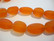 Huurrelasihelmi tangerine (oranssi) nuggetti 14 - 16 mm (6 / nauha)