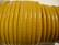 Nappajäljitelmänauha keltainen/okranvärinen pyöreä 4 mm (m-erä 50 cm)