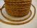 Nahkanauha punottu vaaleanruskea pyöreä 3 mm (m-erä 1 m)