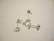Korvakorutappi ripustuslenkillä ja taustakappaleella 925 sterling hopea (2/pss)