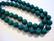 Marmori värjätty tumma vihreä pyöreä 8 mm (20 kpl/pss)