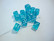 Akryylihelmi Arpakuutio sininen läpikuultava 11 mm (10 kpl/pss)
