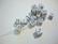 Akryylihelmi Arpakuutio valkoinen opaakki 11 mm (10 kpl/pss)