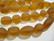 Huurrelasihelmi meripihkan ruskea nuggetti 10 - 15 mm (7 / nauha)