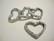 Korulinkki / Riipus avonainen sydän antiikkihopean värinen 22 x 27 mm