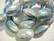 Simpukkahelmi / osterinkuorihelmi hopea 13 - 15 x 11 mm (4/pss)