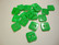 Helmiäisnappi vihreä neliö 11 mm