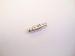 Magneettilukko / nauhanpää hopeoitu liimattava (5 kpl/pss)