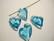 Swarovski kristalli Devoted 2 U -sydänriipus akvamariinin sininen 17 mm