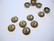 Helmihattu uritettu pyöreä pronssi 9 mm (10/pss)