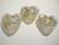 Lamppuhelmi valkoinen / folio Confetti sydän 35 mm