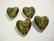 Lamppuhelmi vihreä / folio Confetti sydän 25 mm
