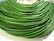 Nahkanauha pyöreä vihreä 1.5 mm (myyntierä 1 m.)