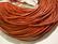 Nahkanauha pyöreä tumma oranssi 1.5 mm (myyntierä 1 m.)