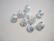 Sandball-helmi hopeoitu tähtikuvio 12 mm