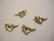 Rapulukko Sydän kullattu 11 x 11,5 mm + vastakappale