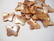 Simpukkahelmi / -riipus perhonen ruskea 10 x 19 mm (10/pss)