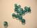Swarovski kristallihelmi Indicolite turkoosi/vihreä pyöreä 6 mm (4/pss)