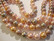 Osterinkuorihelmi vaaleanpunainen / nutria mix 8 mm (nauhassa n. 48 kpl)