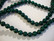 Marmori värjätty tumma vihreä pyöreä 6 mm (20/pss)