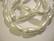 Helmiäislasihelmi valkoinen pisara 17 x 8 mm (10/pss)