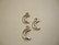 TierraCast Riipus Kuunsirppi hopeoitu 5 x 10 mm (2 kpl/pss)