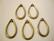 TierraCast Korvakoru riipus pisaran muotoinen pronssi 33 x 20 mm (2 kpl/pss)