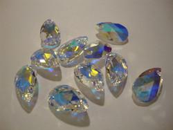Swarovski kristallihelmi riipus kirkas AB päärynän mallinen (6106) 16 mm (2/pss)