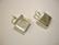Korukehys / riipus hopeoitu nelikulmainen 12 mm