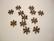 Välihelmi litteä rondelli Lumihiutale kupari 7,7 mm (n.46/pss)