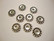 TierraCast Metallihelmi pallokuvioitu hopeoitu 12 mm (4 kpl/pss)