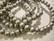 Puuhelmi hopeanvärinen pyöreä 8 mm (n.50 kpl/nauha)
