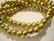 Puuhelmi kulta pyöreä 8 mm (n.50 kpl/nauha)