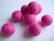 Huovutettu helmi vaalea pinkki n. 10 mm (5 kpl/pss)