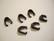 TierraCast Puristettava riipuspidike Royal musta 10 x 4,8 mm