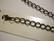 Ranneketju rapulukolla musta 20 cm / lenkkien koko n. 9 x 7 mm