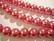 Helmiäislasihelmi vadelman punainen pyöreä 12 mm (18/nauha)