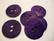Helmiäisnappi matta lila/violetti 31 mm