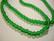 Tsekkiläinen lasihelmi smaragdin vihreä pyöreä 4 mm (50/pss)