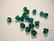 Swarovski kristallihelmi smaragdin vihreä bicone 6 mm (4/pss)