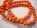 Puuhelmi oranssi pyöreä 8 mm (n.50 kpl/nauha)