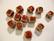 Keramiikkahelmi punainen kuutio 8 mm (10/pss)