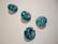 Swarovski kristalli rivoli vedensininen (Aquamarine) pyöreä 12 mm