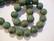 Keramiikkahelmi turkoosi/vaalean ruskea pyöreä 10 mm (10/pss)