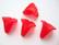 Akryylihelmi kukka punainen 18 x 17 mm (4 kpl/pss)