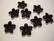Lucitehelmi Kukka musta 5-terälehteä 17 mm
