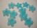 Lucitehelmi Kukka turkoosi 5-terälehteä 17 mm