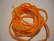 Silkkinauha käsinvärjätty oranssi n. 3 mm / pituus n. 1 m